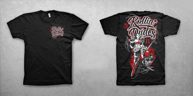 Rollin Dudes Shirt Edition Biker Lady